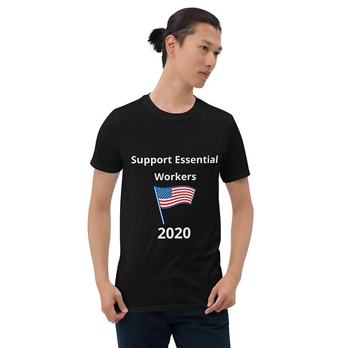 Support Essential Workers Flag T-Shirt