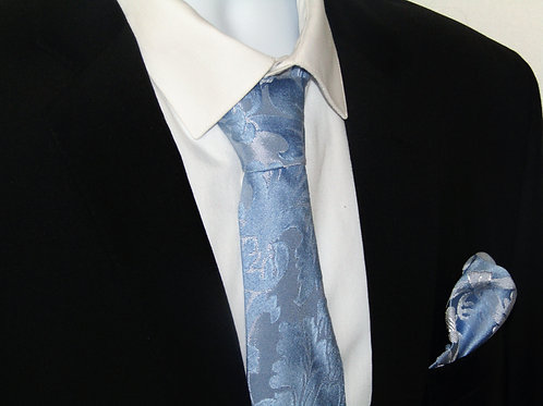 Sky Blue 2 Piece Necktie Set