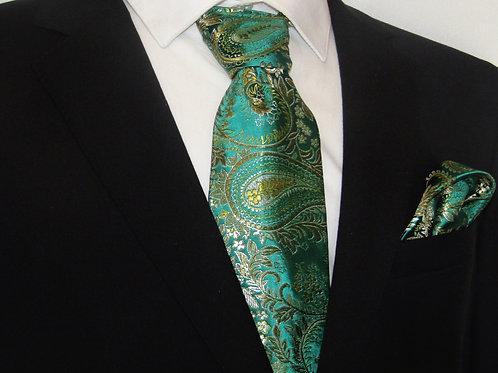 Jade Green 2 piece necktie set