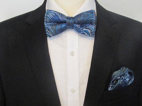 Peacock Blue 2 piece bow tie set