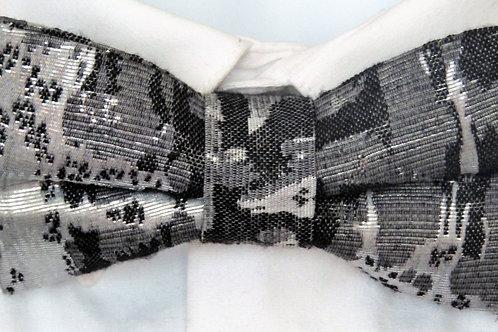Silver Splash Bow Tie