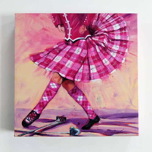 Pink Tartan - Original Painting