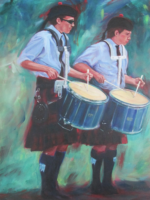 Two Drummers - Original Painting