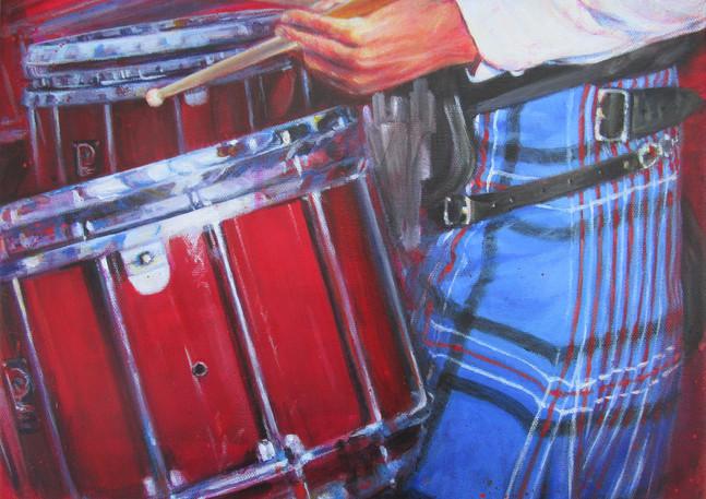 Dunedin Drummer-Original Art by Lesley McVicar