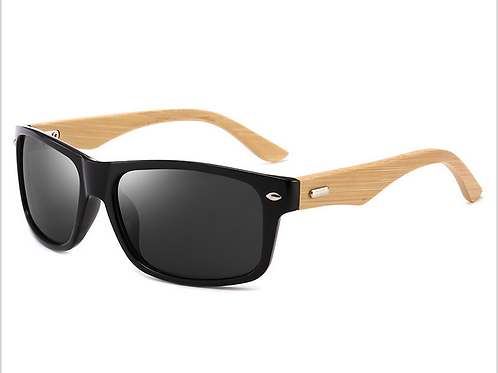 FASHION SUNGLASSES WITH BAMBOO ARMS