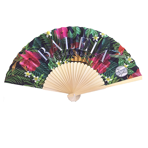 BAMBOO/FABRIC FOLDING FAN