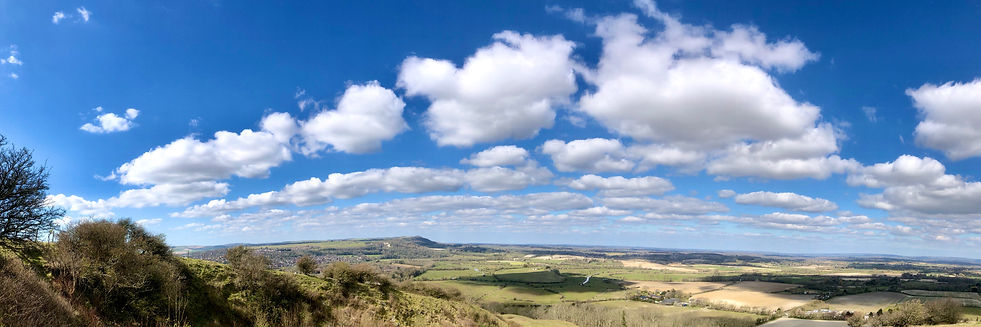 NW from Malling Hill
