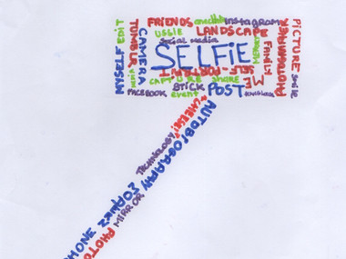 What is a selfie? What is a word cloud?
