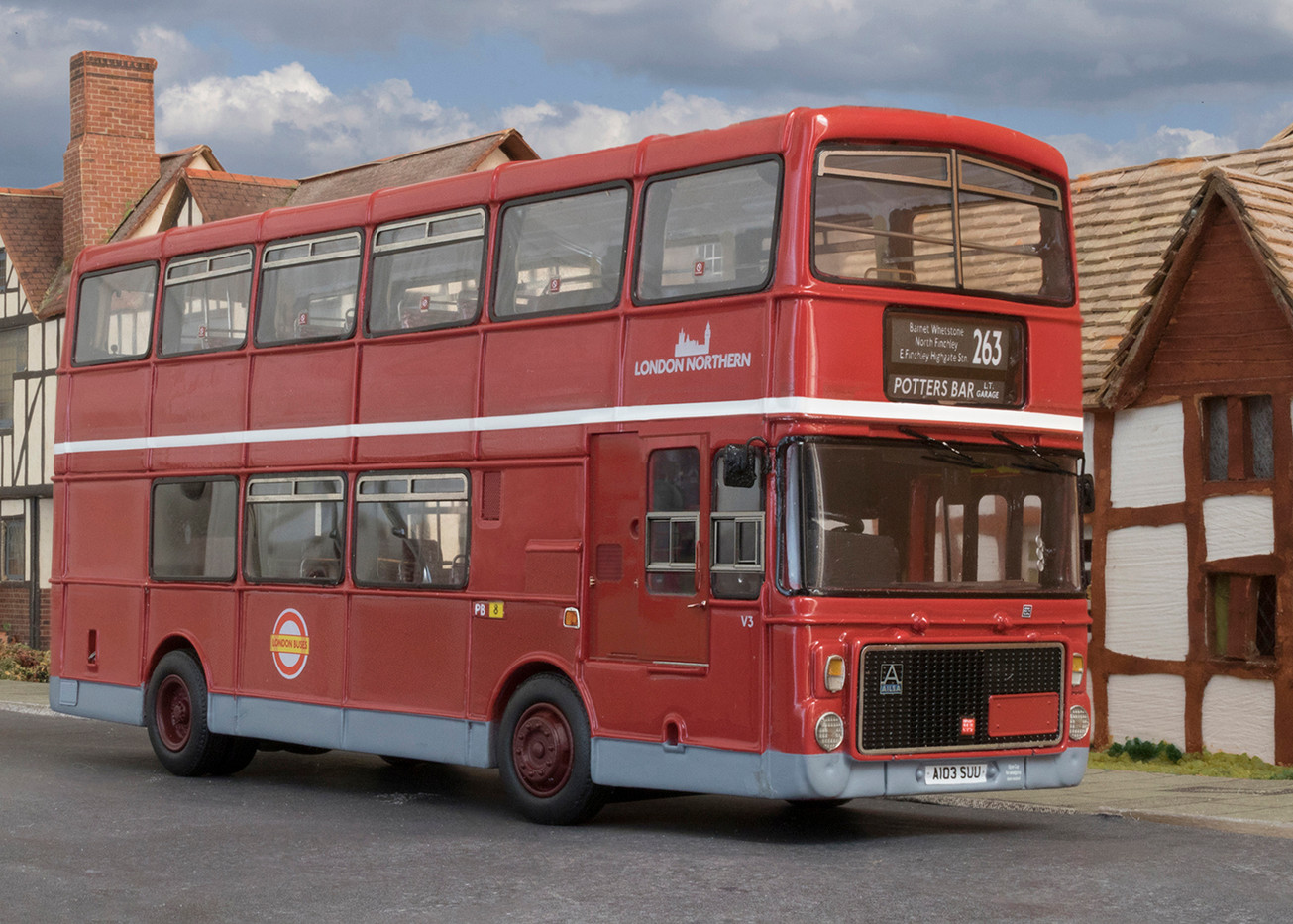 1st LONDON MODEL BUS (TWO INCHES TALL) by Philip Smithies