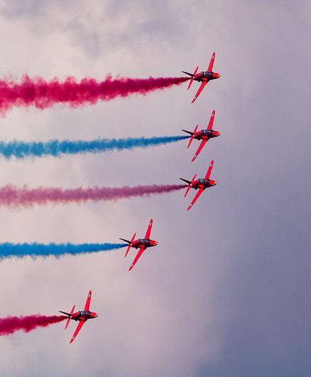 17 RED ARROWS IN ENID FORMATION by John Butler