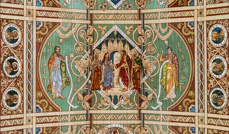 18 ELY CATHEDRAL NAVE CEILING PANEL by Philip Smithies
