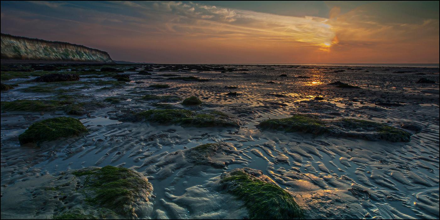 18 SUNSET AT RECULVER by Graham Bunyan