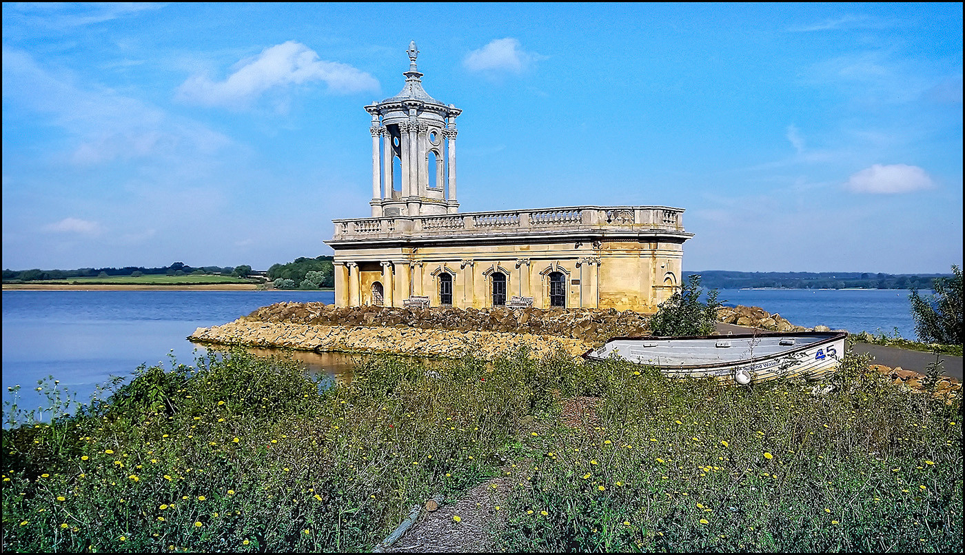 16 NORMANTON CHURCH RUTLAND WATER by Graham Bunyan