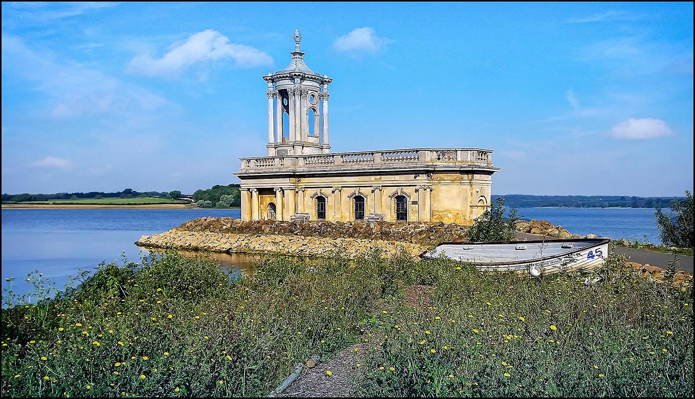16 NORMANTON CHURCH RUTLAND WATER by Graham Bunyan