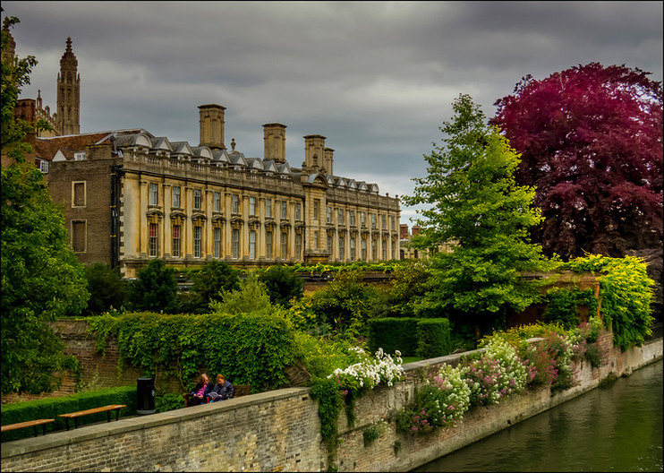 17 CLARE COLLEGE TAKING TIME OUT by Jacky Bunyan