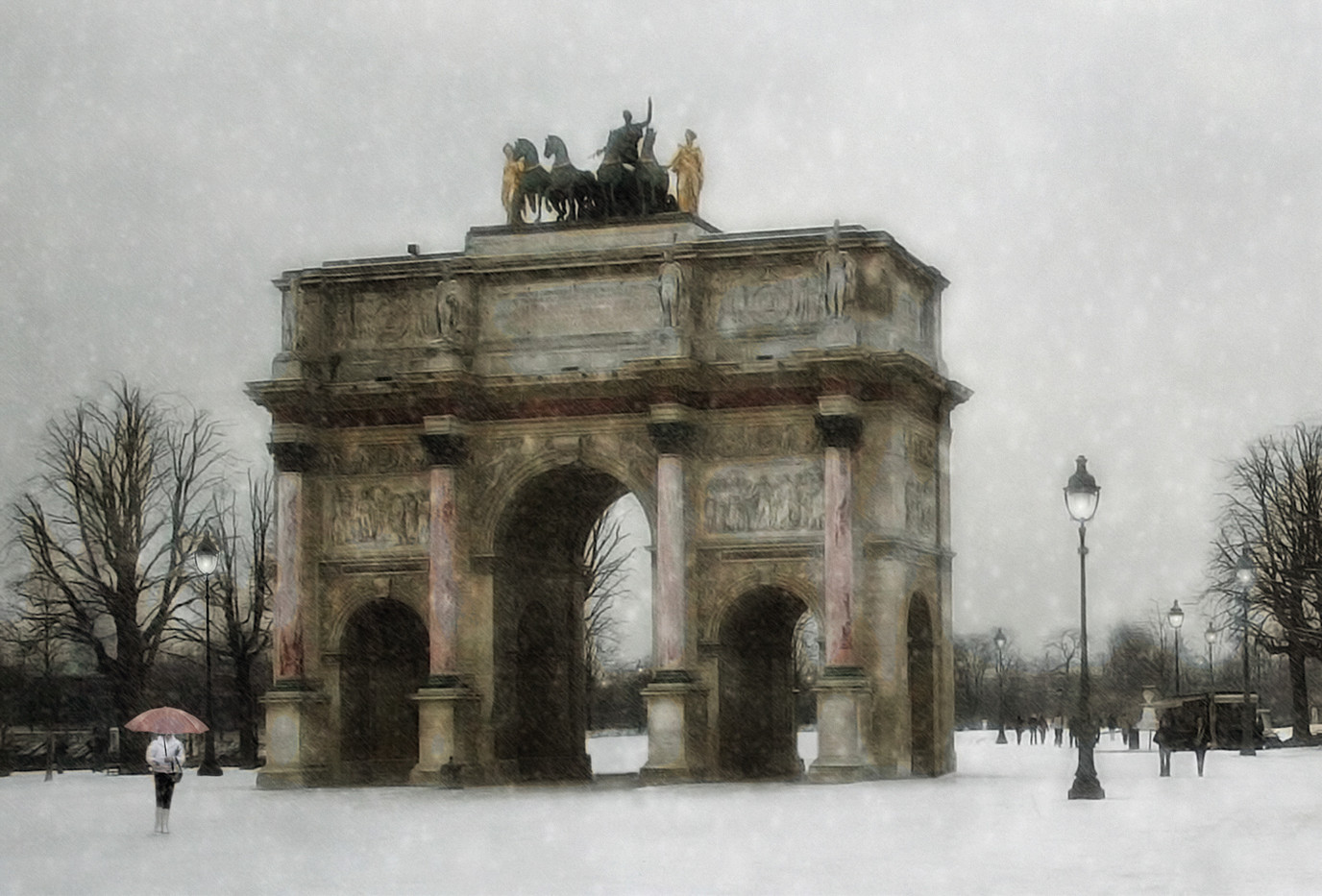 20 SNOW IN PARIS by Pam Sherren