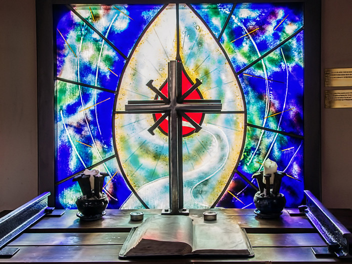 18 ANDALSNES TRAIN CHAPEL ALTER by Pam Sherren