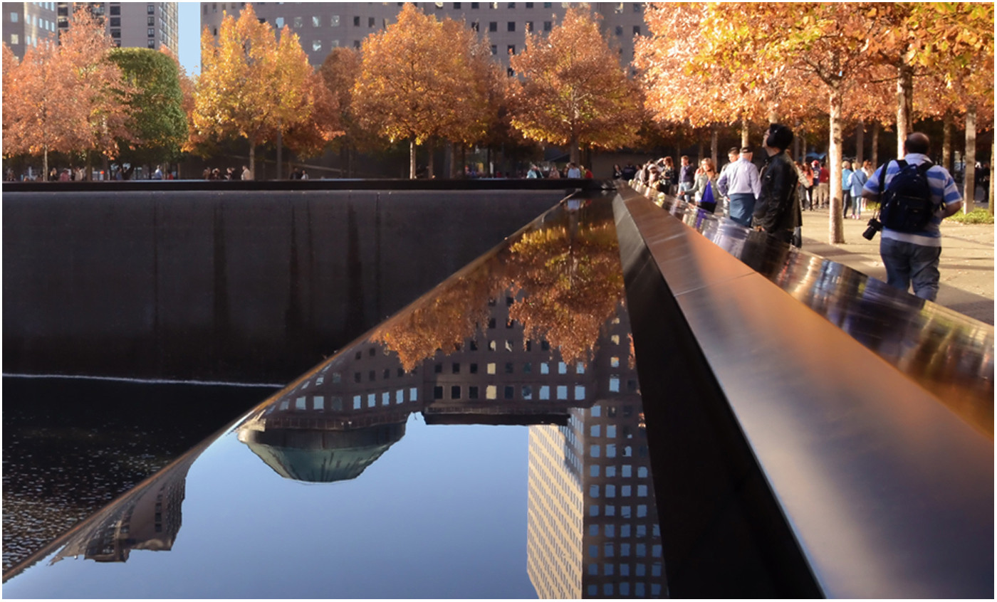 16 TWIN TOWERS MEMORIAL by Joan Gow
