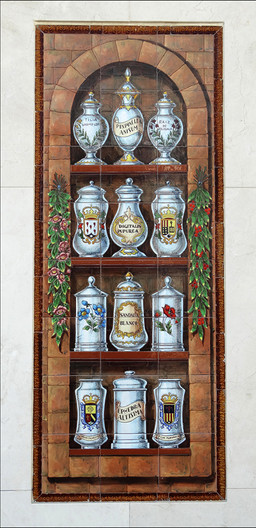17 DECORATED TILES OUTSIDE A SPANISH FARMACIA by Brian Whiston