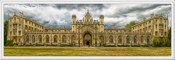 17 A GREY DAY at ST JOHNS COLLEGE by Mick Dudley
