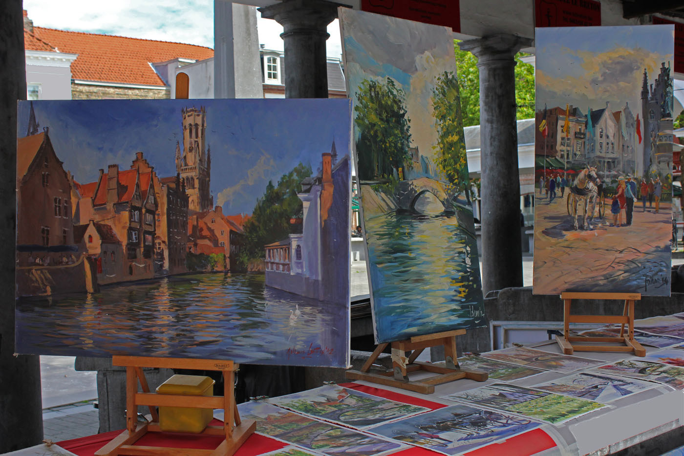 19 BRUGES IN OILS by Liz Turton