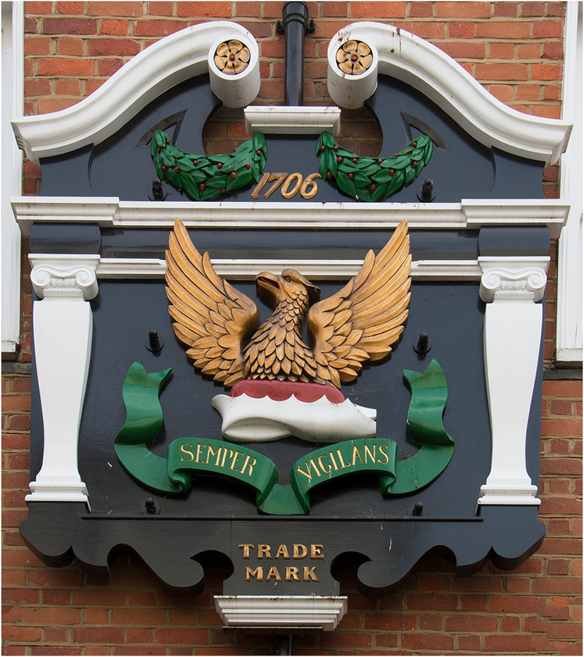 17 TRADEMARK SIGN ABOVE THE OLD OSTER TAVERN, PANTILES, TUNBRIDGE WELLS by Colin Burgess