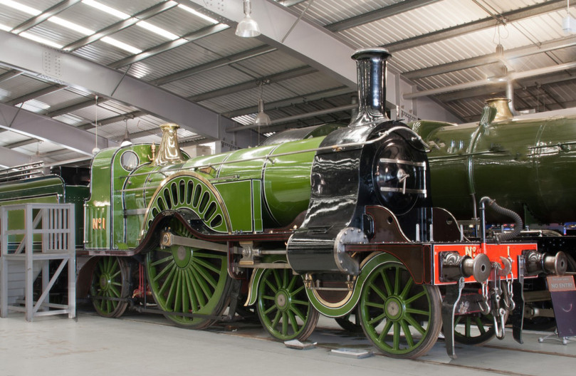 16 4-2-2 LOCOMOTIVE NO 1 AT THE NATIONAL RAILWAY MUSEUM AT SHILDON by Clive Brewer