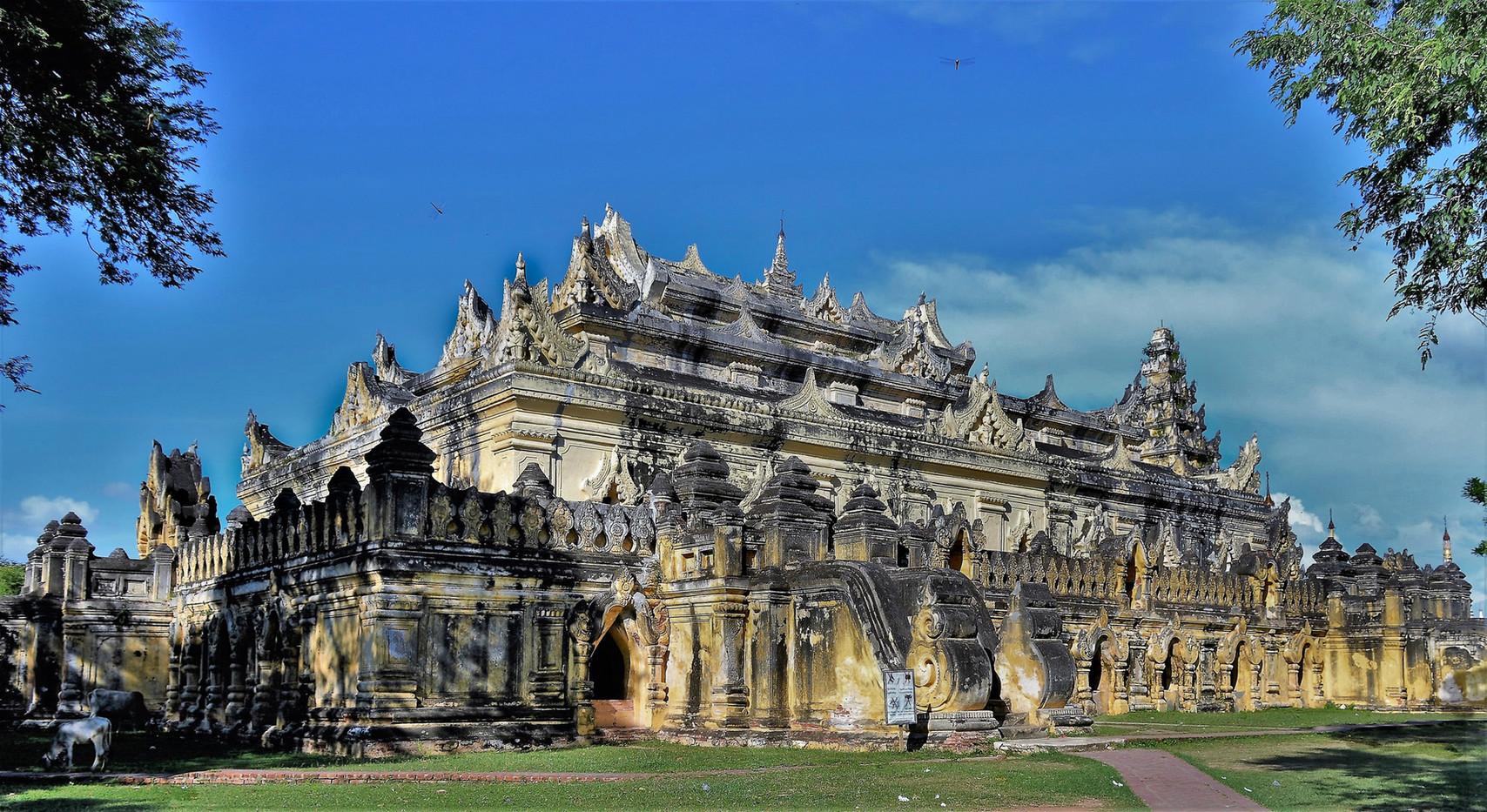 16 MONASTERY MYANMAR by Maureen Heywood.