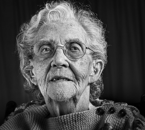 NELLIE AT 97 by Tony Hill