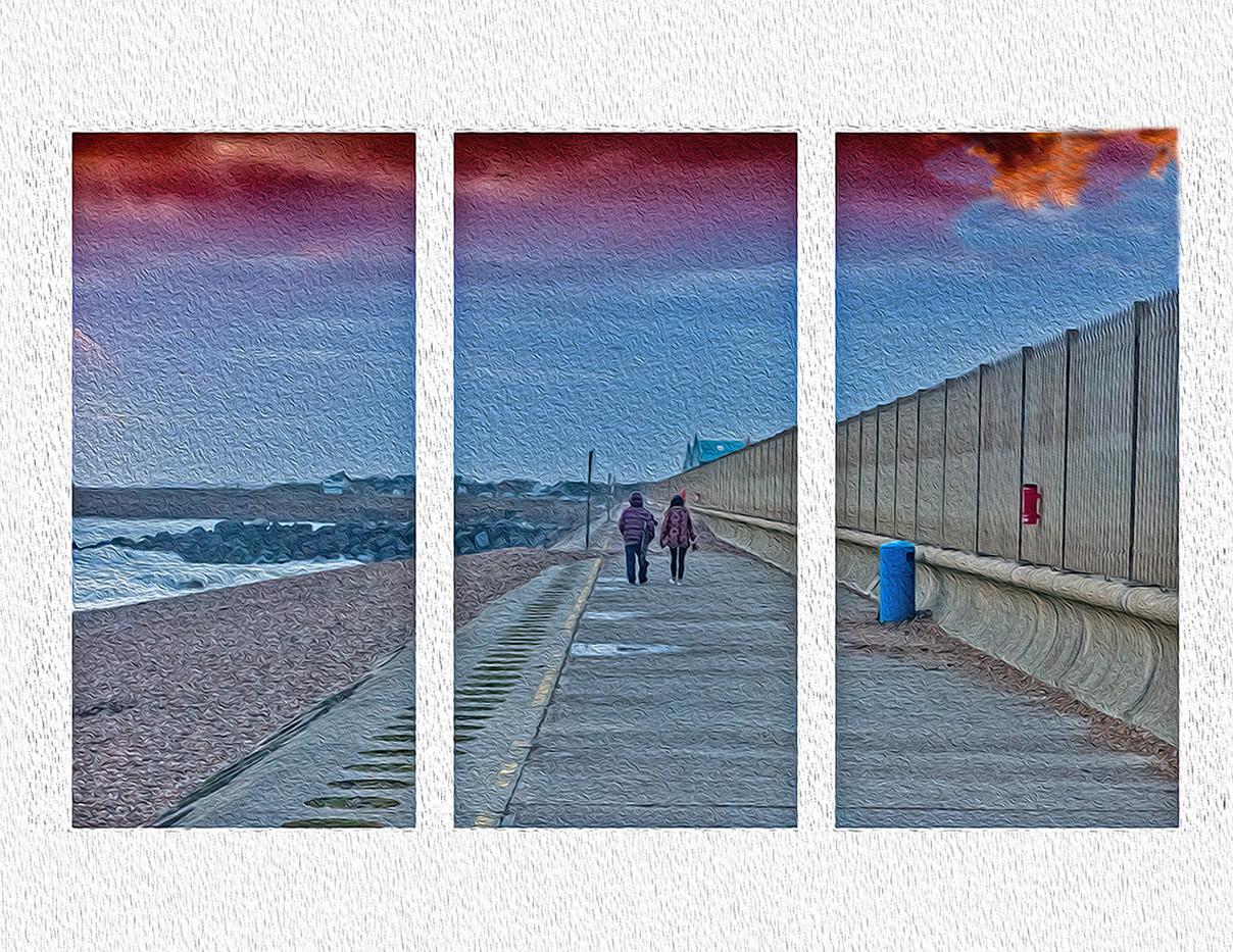 14 TRYPTICH ON SHOREHAM BEACH by Steve Oakes