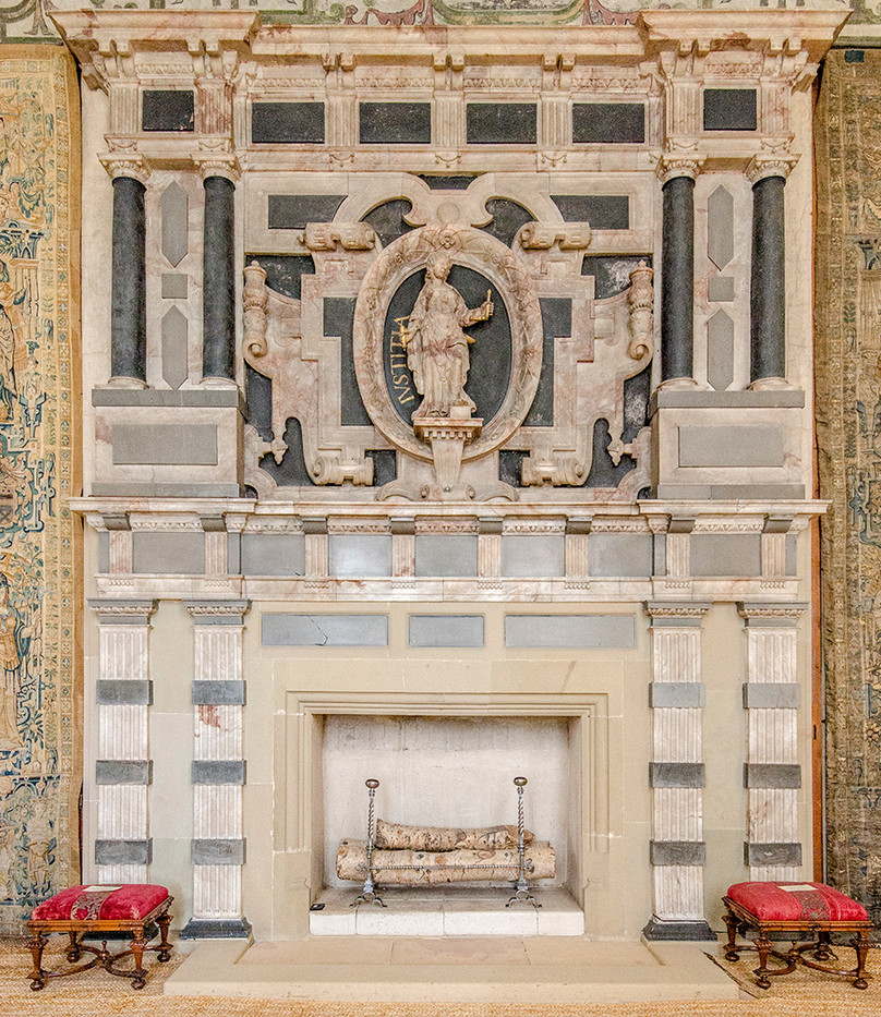 16 ALABASTER CHIMNEYPIECE, HARDWICK HALL,1576 by Alan Cork