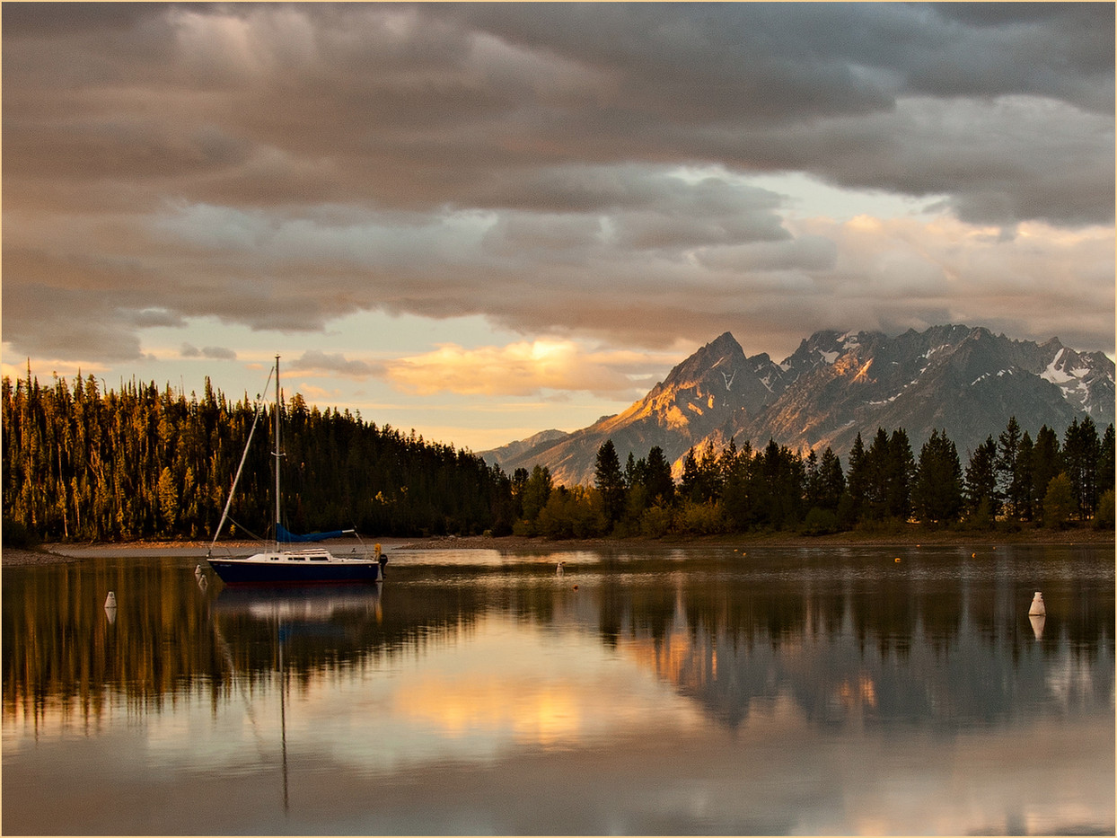 19 SUNRISE AT GRAND TETONS by Cathie Agates