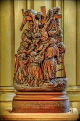17 CARVING IN THE LADY CHAPEL AT LANCING COLLEGE TALL by Mick Dudley
