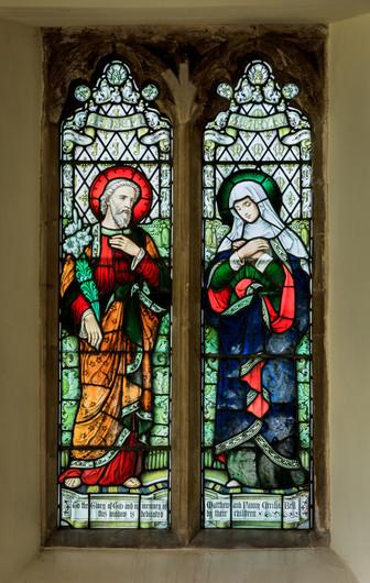 PRINT 19 ST MARY THE VIRGIN WINDOW IN ST MARY'S CHURCH, BISHOPSBOURNE by David Godfrey