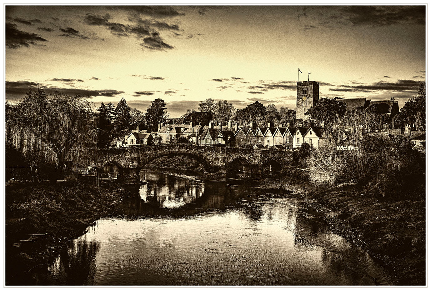19 VICTORIAN VIEW OF AYLESFORD by Philip Easom