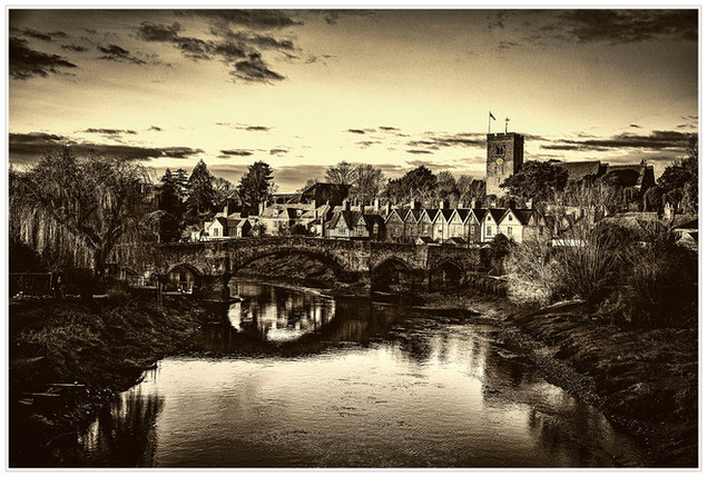 VICTORIAN VIEW OF AYLESFORD by Philip Easom