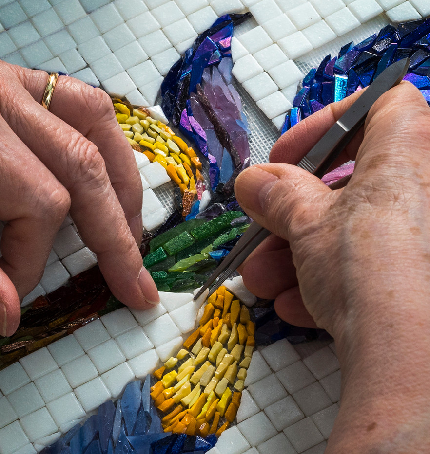 16 FINISHING A MOSAIC IRIS by Richard Gandon