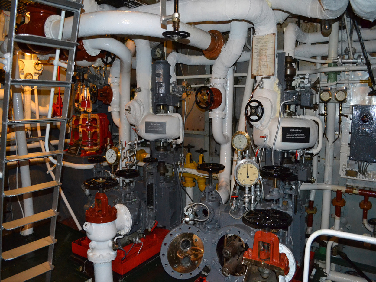 GROUP 1 13 INTERIOR OF HMS BELFAST by Colin Bullen