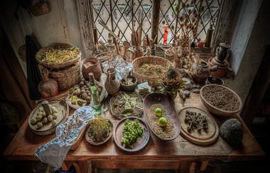 18 A TUDOR STILLROOM TABLE by Mick Dudley