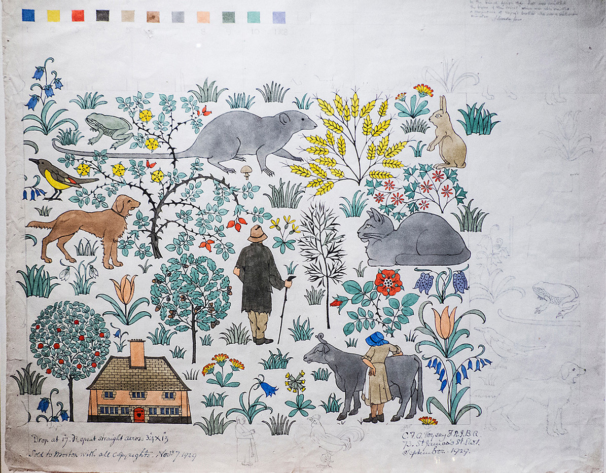 13 DESIGN FOR NURSERY WALLPAPER  BY C VOYSEY by Jenny Clark