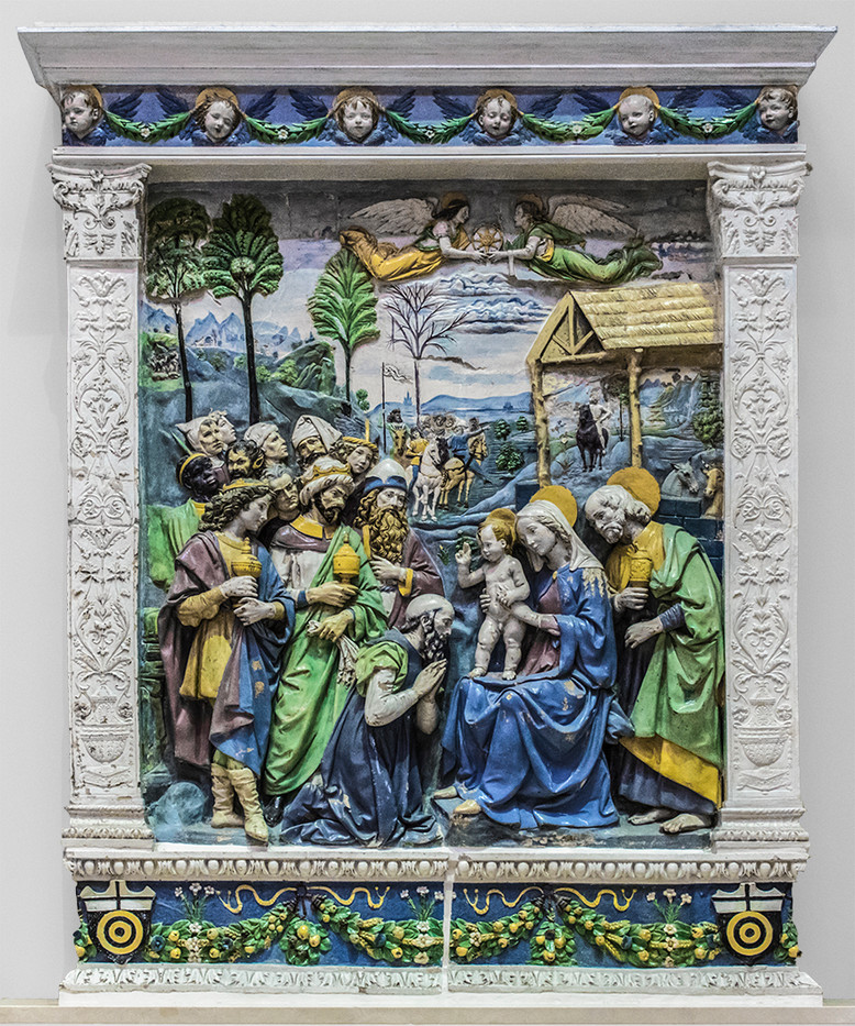 20 ALTARPIECE SHOWING THE ADORATION OF THE MAGI IN THE V & A MUSEUM by Philip Smithies