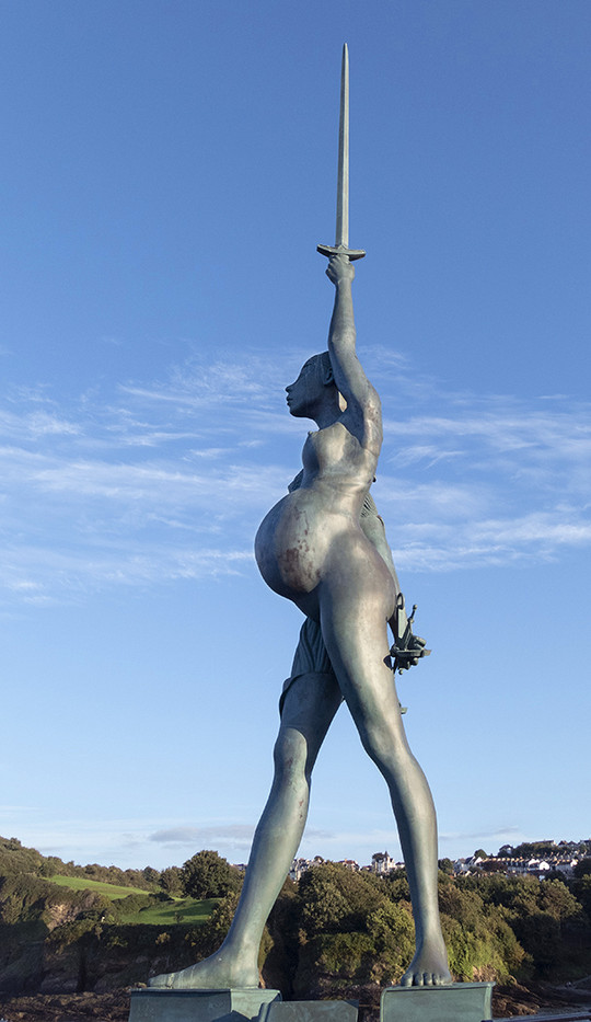 16 VERITY BY DAMIEN HIRST, ILFRACOMBE by Peter Tulloch