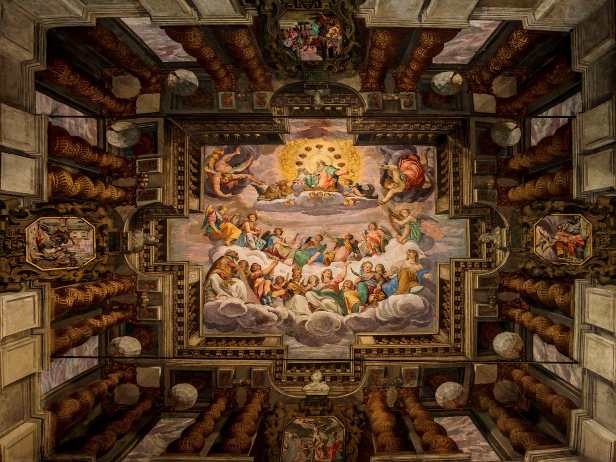20 HANDPAINTED CHURCH CEILING TORRI DEL BENACO CHURCH, ITALY by David Godfrey