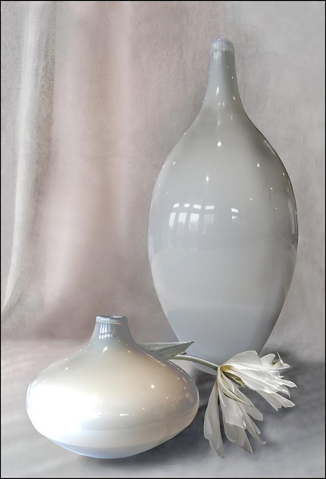 18 TWO GLASS POTS by Jenny Clark