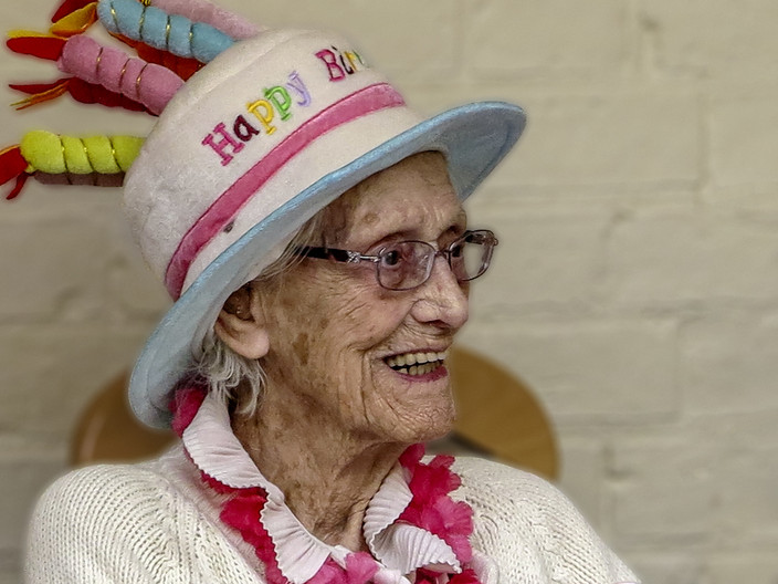 18 BIRTHDAY GIRL GWEN AT 103 by Denys Clarke