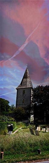 BOSHAM CHURCH EVENSONG by Brian Barkley