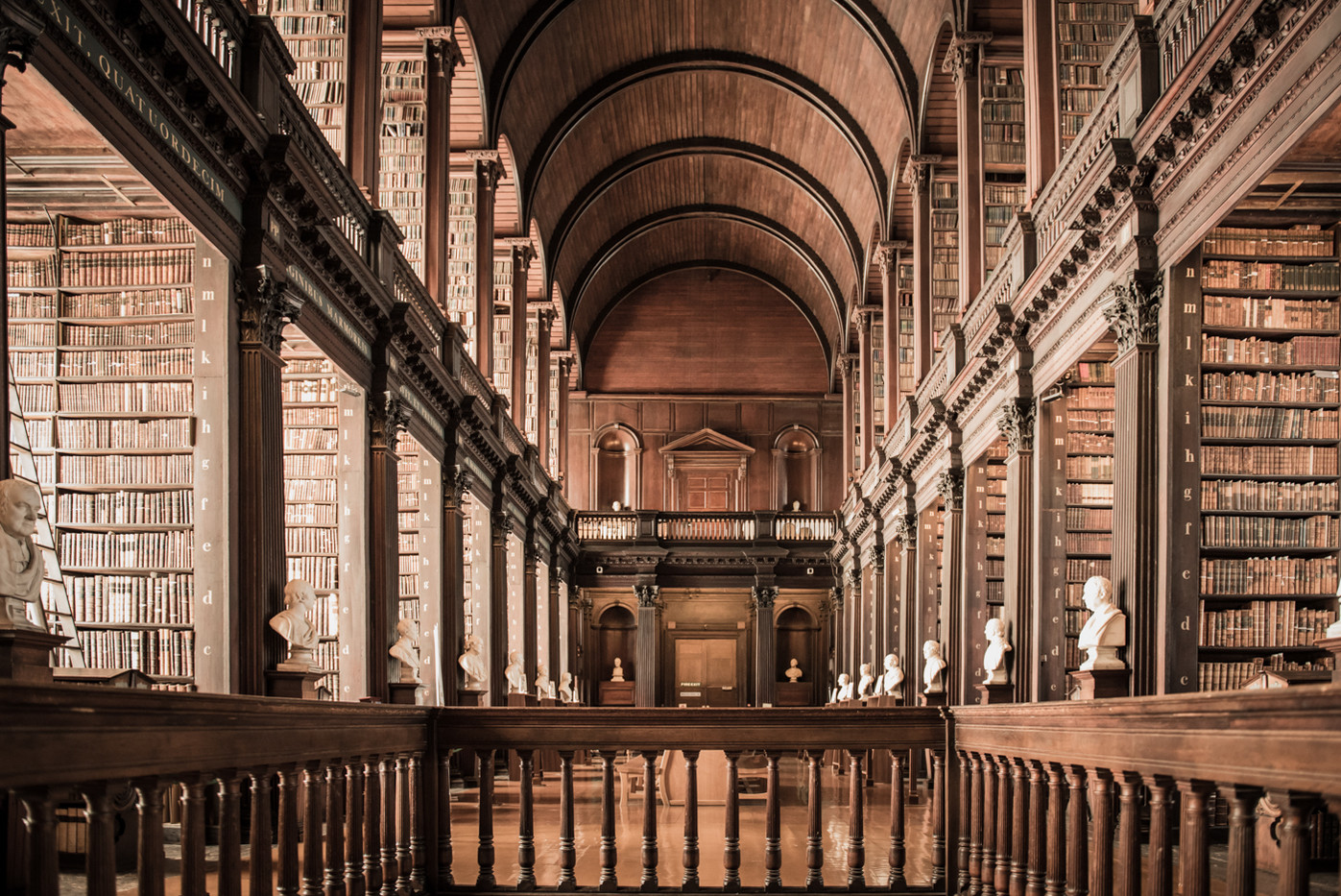 14 TRINITY LIBRARY IN DUBLIN by Doni Dupriez