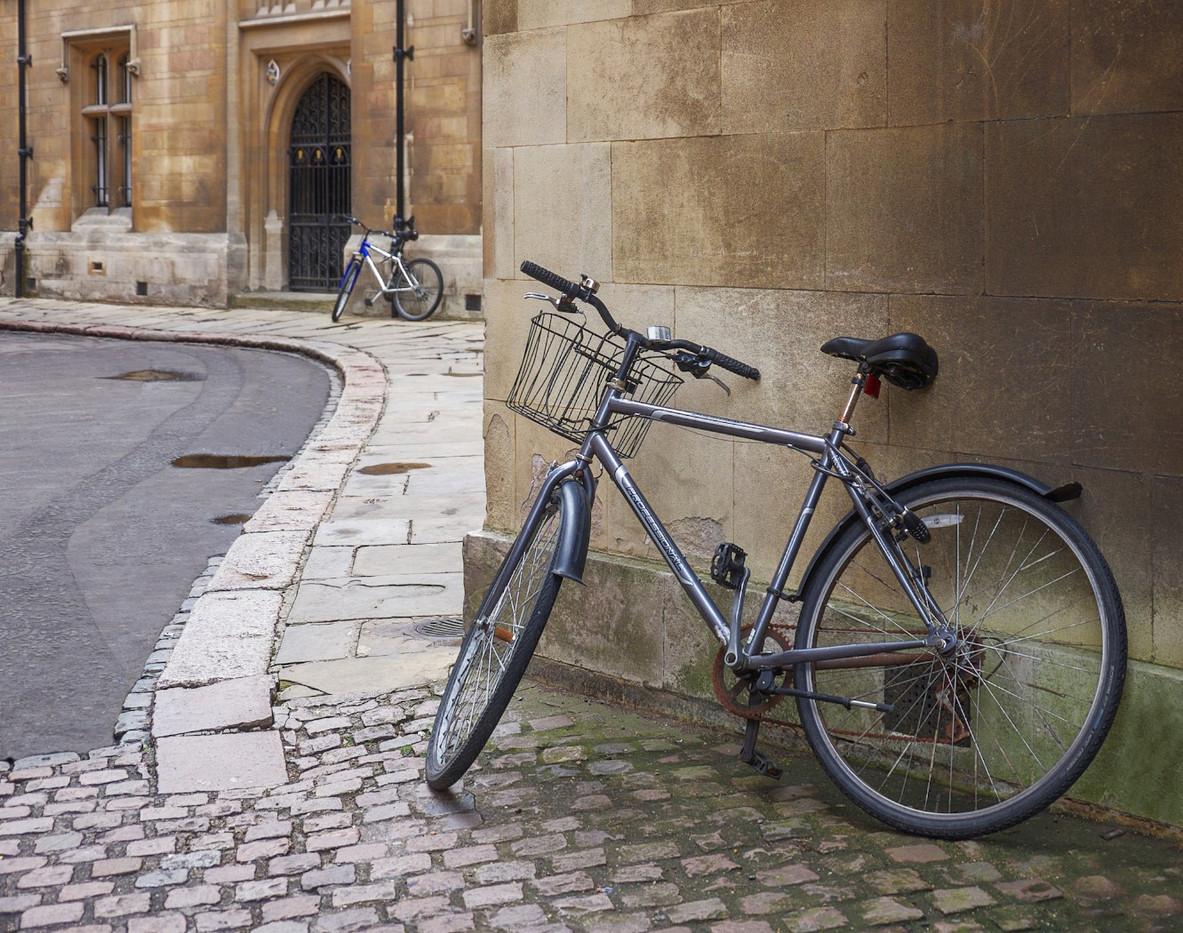 18 TWO BIKES CAMBRIDGE by Carole Lewis