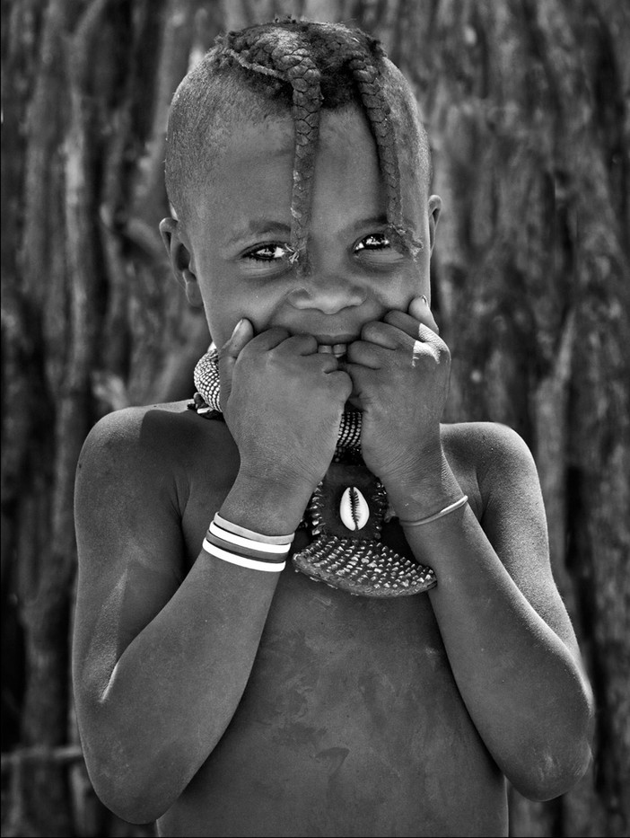 14 HIMBA VILLAGE GIRL by Peter Tulloch