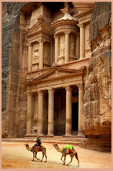 AL KHAZNEH (THE TREASURY), PETRA, JORDAN by Keith Evans